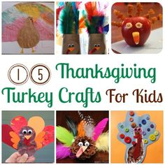 15 Thanksgiving Turkey Crafts For Kids