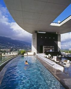 The World's Most Epic Hotel Pools. Hotel Habita  .  Monterey Mexico