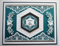 PartiCraft (Participate In Craft): Search results for classic adorned hexagon Sue Wilson, Hexagon Cards, Paper Cards, Men's Cards, Craft Cards, Card Crafts, Spellbinders Cards, Die Cut Cards, Scrapbook Cards