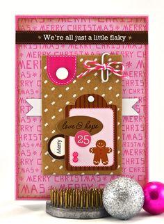 Christmas Card - Holiday Greeting Card - Merry Christmas Card - Gingerbread Man Christmas Card - Fun Christmas Card - Christmas Handmade - pinned by pin4etsy.com