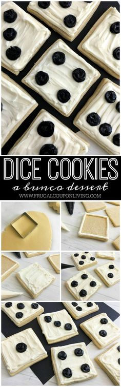 Need a Bunco snack idea? These dice cookies make the perfect Bunco Dessert idea. Homemade Cookie Recipe on Frugal Coupon Living.
