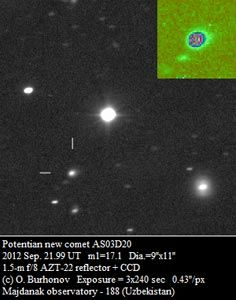 Newly discovered comet on its way toward a close encounter with our sun, may light up skies in November 2013