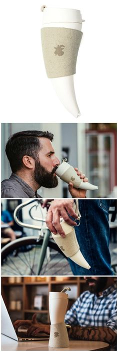 Goat Story Mug. The horn shape is a dedication to goats that discovered coffee…
