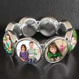 Your Mom,Grandmother,sister, aunt, wife or best friend will love this new Instant and easy to make photo jewelry glass domed stretch photo bracelet. Includes everything you need to make a complete Glass photo bracelet