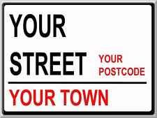 PERSONALISED ANY STREET ANY TOWN METAL SIGN!!