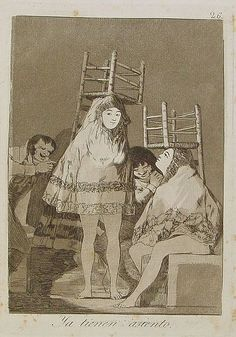 Sentaos a capricho, Francisco Goya, Now they are sitting well, Los Caprichos no. 26