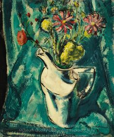 Still Life With White Pitcher And Flowers by Alfred Henry Maurer Canvas Print from Truly Art - Offering Framed and Unframed Wall Art. Canvas Art For Sale, Canvas Art Prints, Fine Art Prints, Art Deco Paintings, Painting Still Life, Oil Painting Reproductions, True Art, American Artists, Flower Art