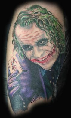 Heath Ledger as the Joker Tattoo on arm