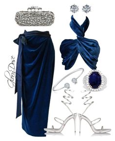 """""""Untitled #278"""" by chichimia on Polyvore featuring Versace, René Caovilla, Alexander McQueen, Effy Jewelry and Ferrucci"""
