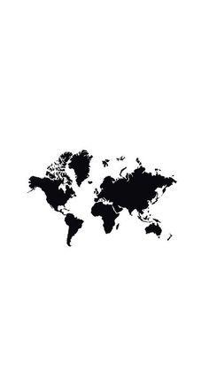 Mapa. Mundo. Continentes. Desenho. Arte. Preto e branco.