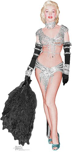 """Marilyn Monroe the original costume for """"Diamonds are a girl best friend. in a…"""
