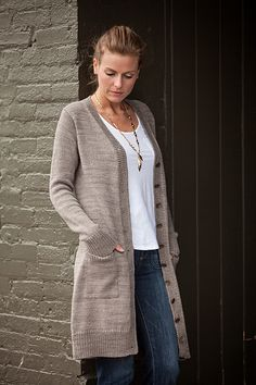 Ravelry: Boardwalk pattern by Amy Miller - fingering weight Knit Cardigan Pattern, Sweater Knitting Patterns, Knitting Yarn, Knit Patterns, Knitted Coat, Long Sweaters, Long Cardigan, Ravelry, Knit Crochet