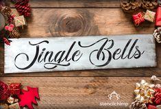 Jingle Bells Christmas Stencil MYLAR A4 sheet strong reusable Art Craft WallDeco