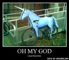 A Charlie the Unicorn bicycle... you cannot get any better than that Candy Mountain Charlie, Unicorn Bike, Unicorn Cat, Charlie The Unicorn, Funny Quotes, Funny Memes, Funny Captions, Funny Gifs, Thing 1