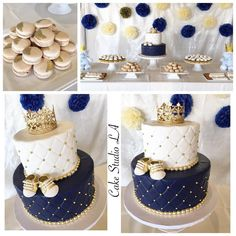 Trendy Baby Shower Themes For Boys Prince Fit Baby Shower Cakes For Boys, Baby Boy Cakes, Baby Shower Themes, Baby Boy Shower, Royal Baby Shower Theme, Prince Cake, Baby Prince, Royal Prince, Royalty Baby Shower