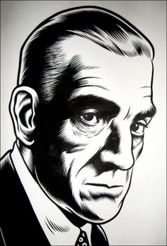 popgothic:  Boris Karloff, by Charles Burns.