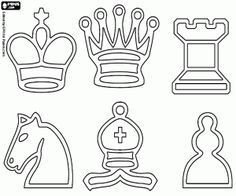 Chess coloring pages printable games Free Coloring Pages, Coloring Books, Chess Tattoo, Online Drawing, Chess Pieces, Symbolic Tattoos, Rug Hooking, Rock Art, Board Games