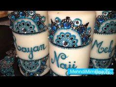 Set de bougies..Henna candles set - YouTube