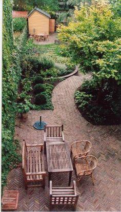 Outdoor Seating, Outdoor Rooms, Garden Living, Home And Garden, Landscape Design, Garden Design, Next At Home, Garden Bridge, Backyard Landscaping
