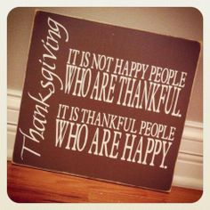 Happy & Thankful Sign - Thanksgiving - Gift $38