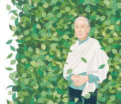 JANE GOODALl 2 - Ilustración - Revista Etiqueta Verde E16 Jane Goodall, Disney Characters, Fictional Characters, Disney Princess, People, Art, Journals, Green, Women