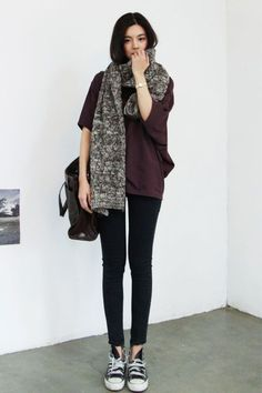 style Affordable Street Style Looks Fashion Trends Korean Street Fashion, Asian Fashion, Look Fashion, Winter Fashion, Fashion Outfits, Fashion Trends, Fashion Clothes, Fashion Black, Latex Fashion