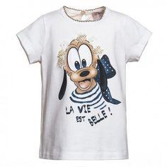 T-SHIRT BIMBA MONNALISA BEBÈ T-Shirt bimba Monnalisa in jersey di cotone di colore bianco con stampa fantasia arricchita da decorazioni con perline, fiori in tessuto e strass, manica corta e bottone sul retro. T-shirt Monnalisa Bebè perfetta se abbinata a una culotte o a dei leggings. #monnalisa #monnalisabebè #abbigliamento #vestiti #bimba #neonati #bambina #baby #bebè #girl #infant #fashion #moda #shopping #eshop #ecommerce #gift #child #clothing