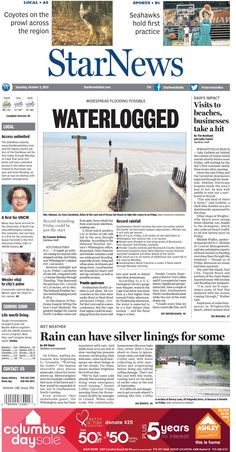 Front page for Saturday, Oct. 3, 2015