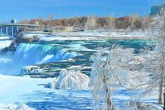Winter Falls by Kerry Wagner. Enter our #FreezeTheMoment contest for a chance to win a Microsoft Surface Pro: http://corl.co/1t0r9PU #PainterEssentials #Painter #DigitalArt