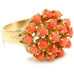 Discounted Jewelry – off or more! Coral Ring, Coral Jewelry, Gemstone Jewelry, Jewelry Rings, Gold Earrings Designs, Gold Jewellery Design, Gold Finger Rings, Sarah Coventry Jewelry, Stylish Jewelry
