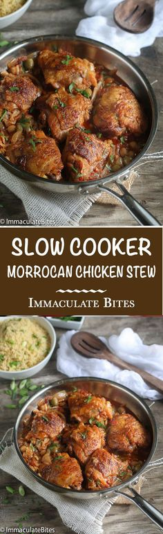 Moroccan Slow Cooker Chicken Stew With Chick Peas