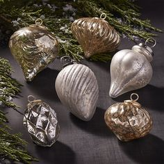 Antiqued Glass Ornaments | Crate and Barrel