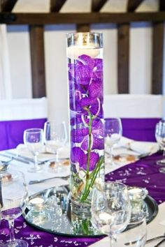 Wedding Flower Vase Table Centre Arrangement by www.theflowerhouse.biz | Photographed by www.fitzgeraldphotographic.co.uk