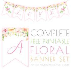 Complete Free Printable Floral Banner Set - The Cottage Market
