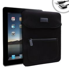 """good USA Gear Neo-Cushion 9.7"""" Tablet Case and Sync/Charge Cable for Apple iPad 1 , 2 and More!"""