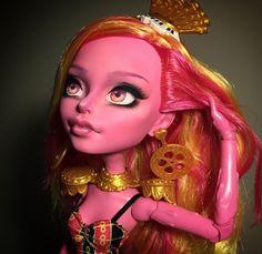 "Monster High Doll Repaint Mod Ooak Custom Faceup 17"" By Tekk"