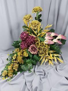 Grave Flowers, Ikebana, Funeral, Flower Designs, Floral Arrangements, Bouquet, Wreaths, Table Decorations, Tropical Flower Arrangements
