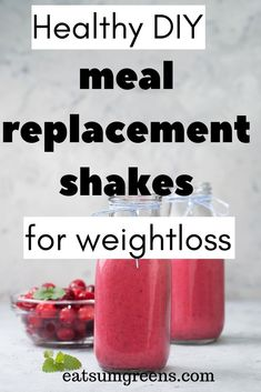 The best meal replacement shakes don't always have to be bought. You can easily . The best meal re Meal Replacement Shakes Homemade, Protein Meal Replacement, Meal Replacement Smoothies, Meal Replacement Recipes, Breakfast Meal Replacement Shakes, Protein Shake Recipes, Homemade Protein Shakes, Protein Smoothies, Diy Protein Shake