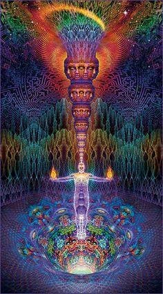 Alex Gray Art, Alex Grey, Les Chakras, Psychadelic Art, Chakra Art, Psy Art, Hippie Art, Visionary Art, Sacred Art