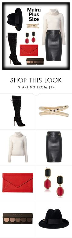 """Maira's Fall Look"" by mairaplussize ❤ liked on Polyvore featuring Gianvito Rossi, Maison Margiela, Maiyet, Moschino, Graphic Image, 1st & Gorgeous by Carolee and Gucci"