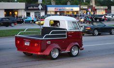 Mini shortie squashed VW camper Volkswagen campervan bus kombi