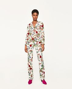 ZARA - EDITORIALS - FLORAL PRINT JACKET