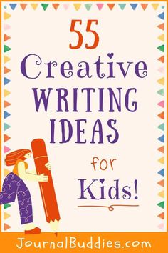 Energize your students' writing with these new creative writing ideas. These 55 new journal prompts and creative writing ideas for kids promote creativity and fun! #CreativeWritingIdeasForKids #KidsCreativeWritingPrompts #JournalBuddies Paragraph Writing, Narrative Writing, Informational Writing, Persuasive Writing, Writing Workshop, Creative Writing For Kids, Writing Prompts For Kids, Cool Writing, Writing Lessons