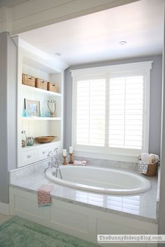 Our White Master Bathroom is ready for Spring! I& so excited to share a few ways I get all of my bathrooms ready for Spring each year! The post White Master Bathroom (ready for Spring appeared first on Dekoration. Budget Bathroom, Bathroom Renos, Bathroom Renovations, Bathroom Ideas, Shower Bathroom, Shower Tiles, Basement Bathroom, Concrete Bathroom, Vanity Bathroom