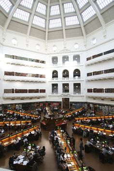 I pulled a few all-nighters here - I'd like to go back now that I don't have pressing paper deadlines. Victoria State Library / Melbourne