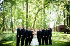 Bride with groomsmen. http://linnealizphotography.com