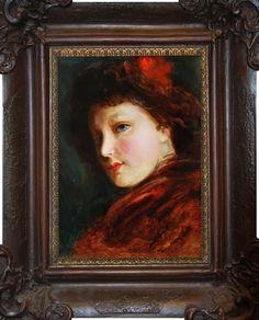 Jan Dědina (1870 – 1955)   Portrét ženy   www.marold.cz/aukce