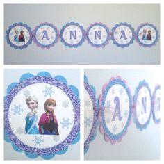 NEW  Frozen Name Banner Frozen Banner by Kbettega on Etsy, $12.00