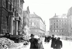 Civilians in bombed Vienna street