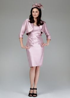Mascara pink dress and jacket wedding outfit. Sizes 16-20 available at www.middletonwood.co.uk